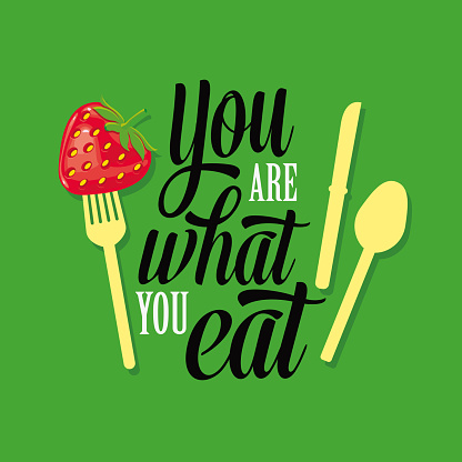 You Are What You Eat Typographic Illustration