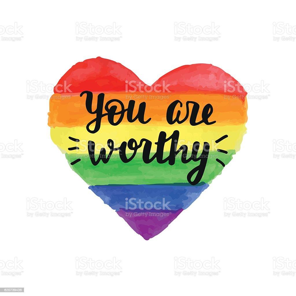 You are Worthy slogan - ilustración de arte vectorial