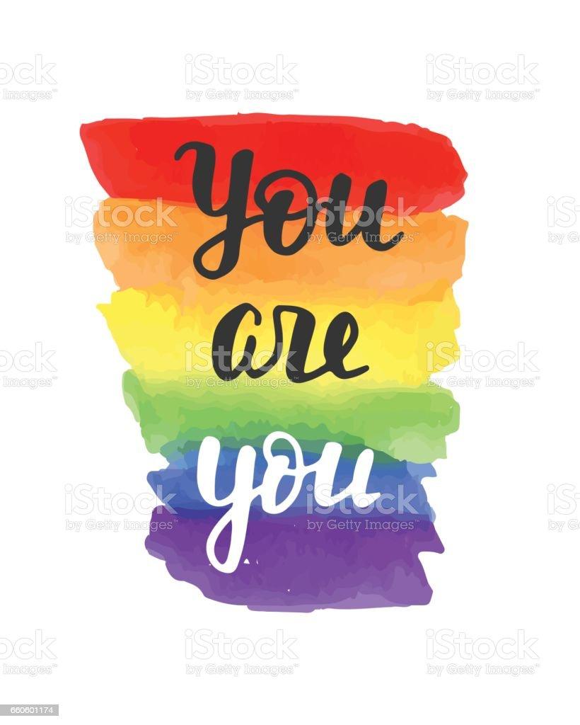 Estás se divisa. Cartel de orgullo gay - ilustración de arte vectorial
