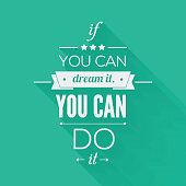 You can do it Quote Typographical Poster, Vector Design.