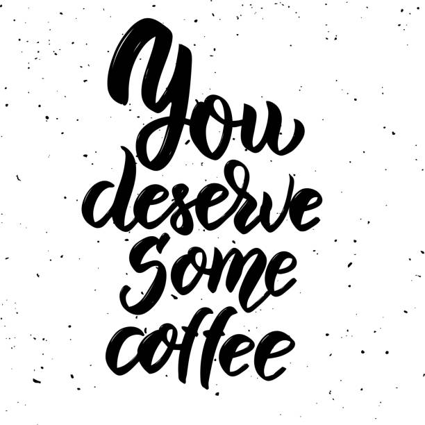 Royalty Free Coffee Quotes Clip Art, Vector Images ...