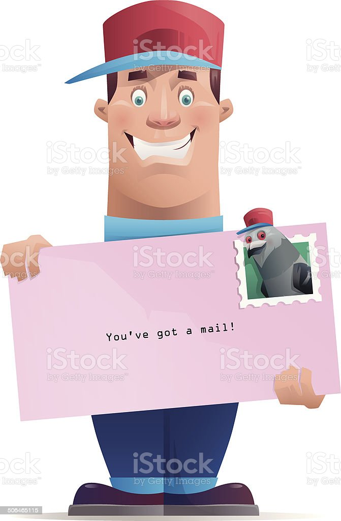 you have got a mail! royalty-free stock vector art