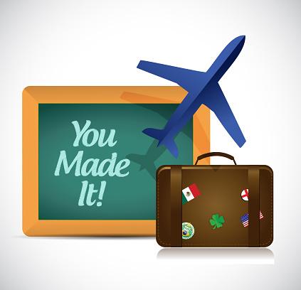 You made it blackboard airplane sign