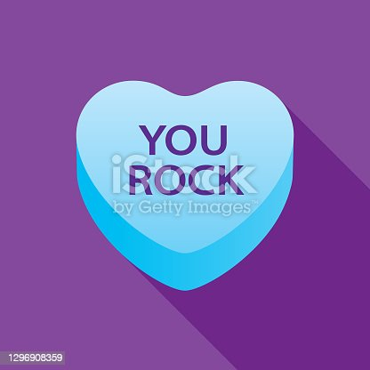 istock You Rock Valentine Candy Heart Icon 1296908359
