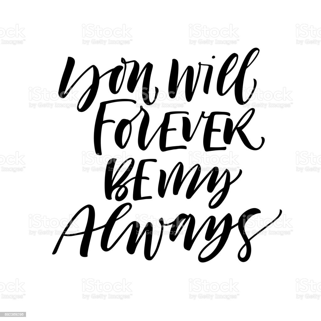 You Will Forever Be My Always Card Stock Vector Art More Images Of