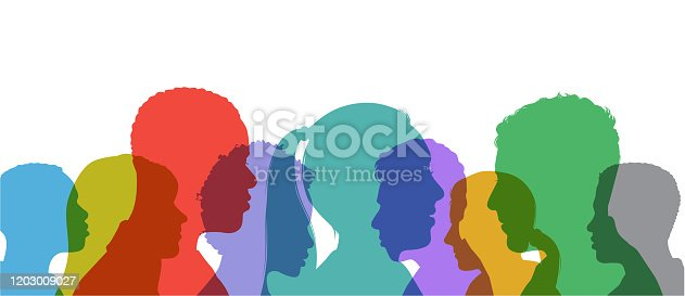 istock Young Adult Head Silhouettes 1203009027