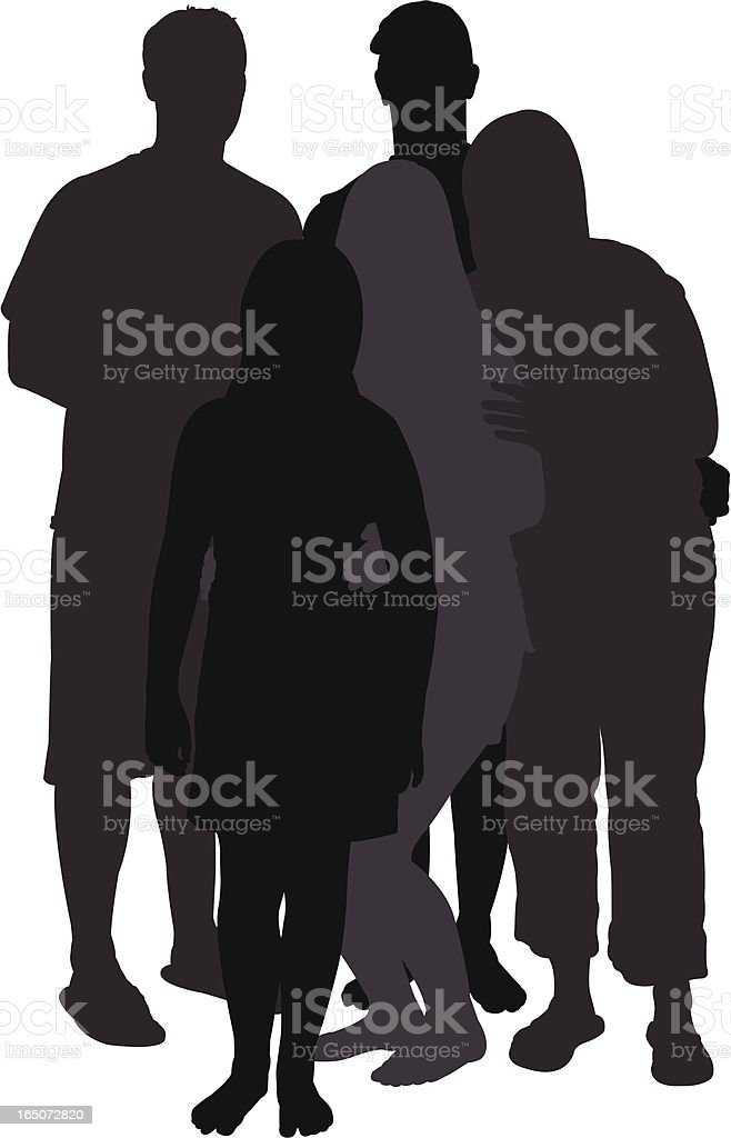 Young Adults Series vector art illustration