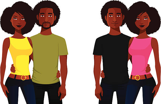 African American Couple Illustrations, Royalty-Free Vector ...