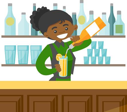 Bartender stock illustrations