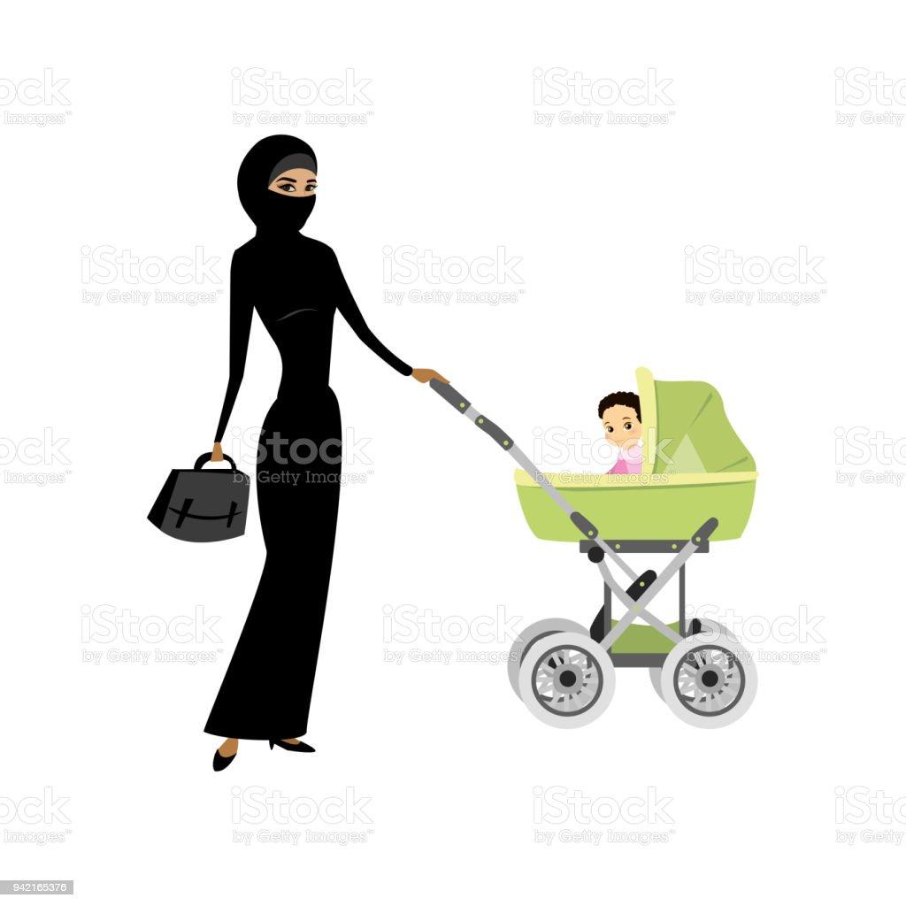 poussette bebe en arabe