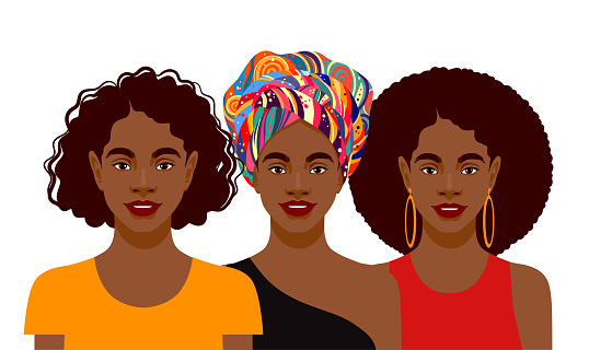 Young attractive African American women