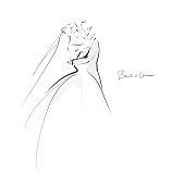 Hand-drawn illustration. Vector