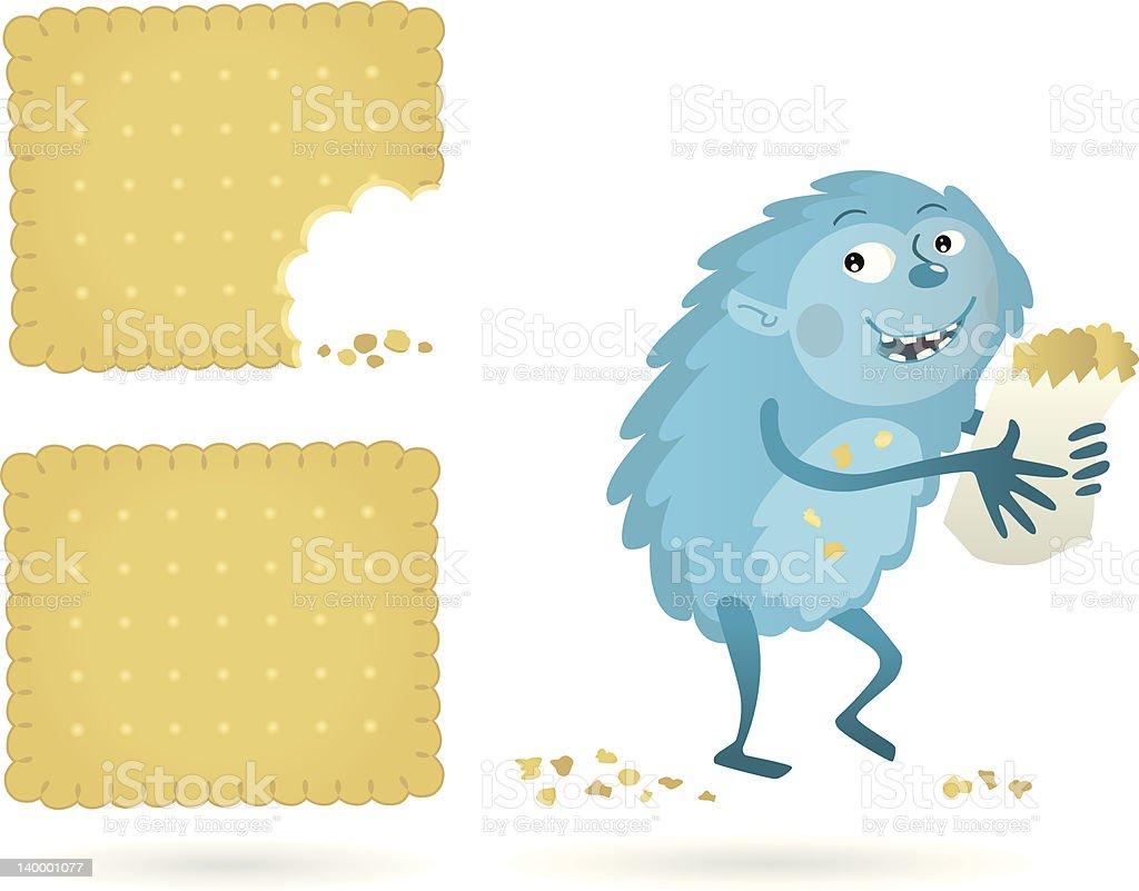 young Biscuitmonster vector art illustration