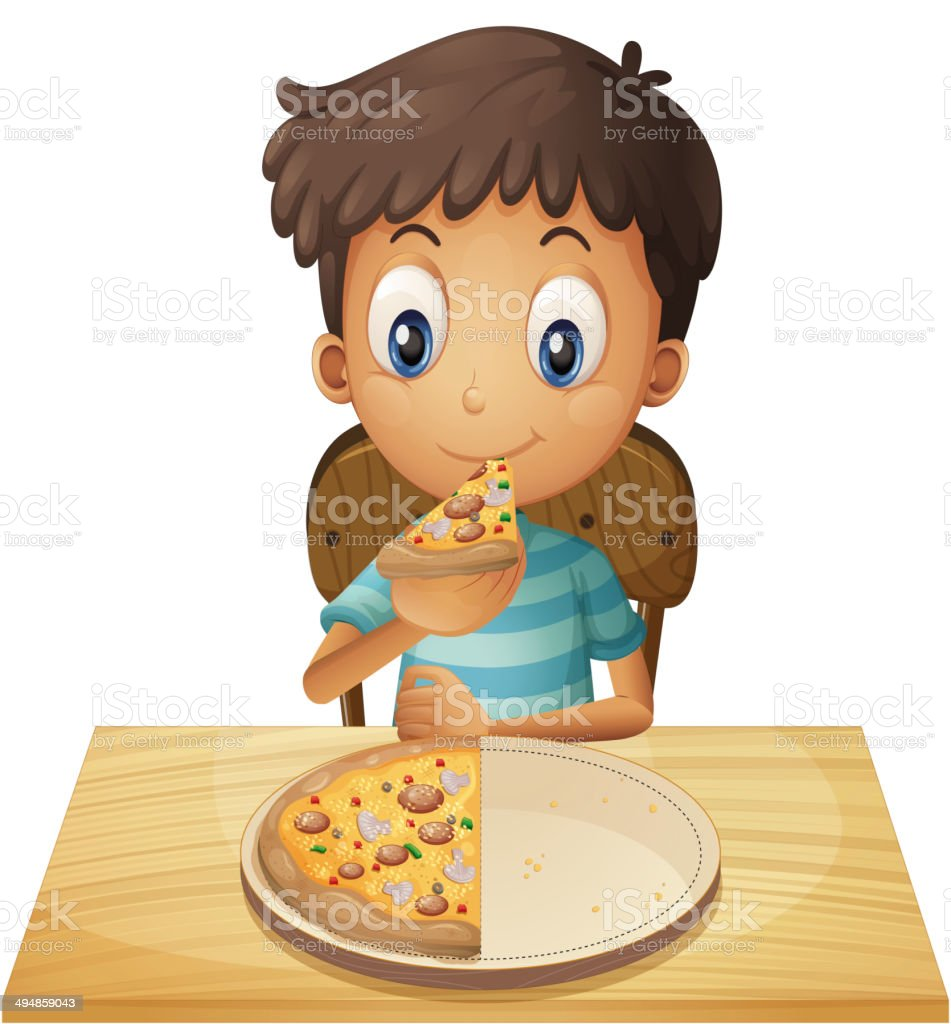 Pizza Table Clip Art Vector Images Illustrations iStock
