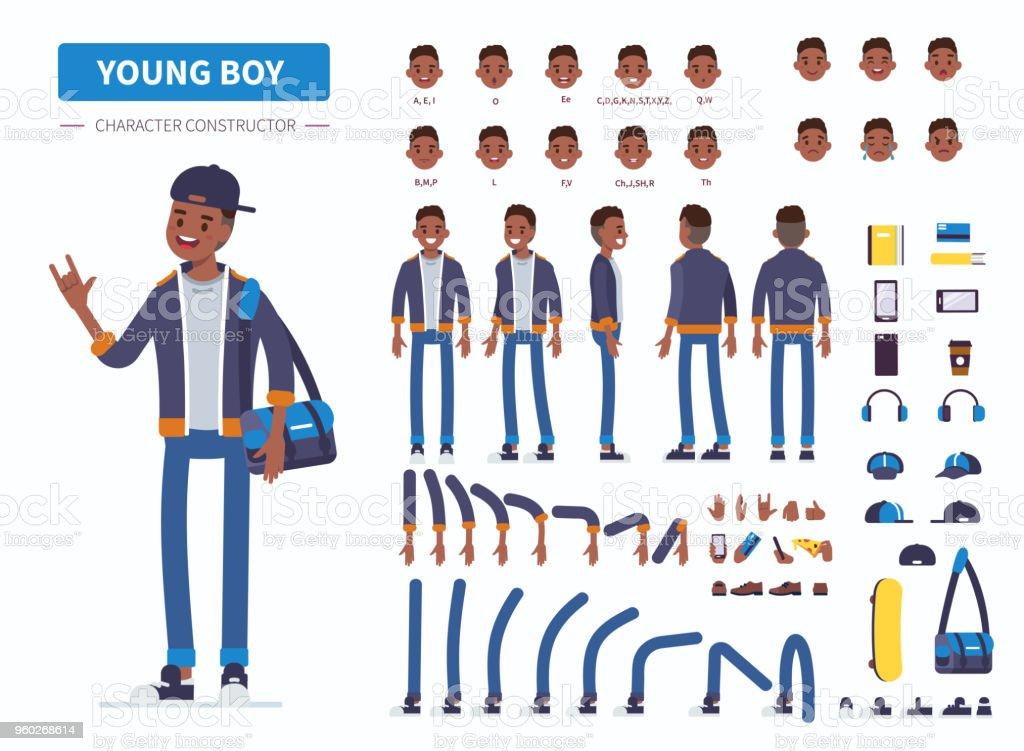 young boy - ilustración de arte vectorial