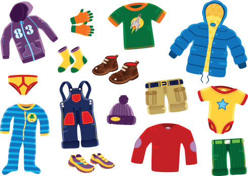 Young boys clothing items