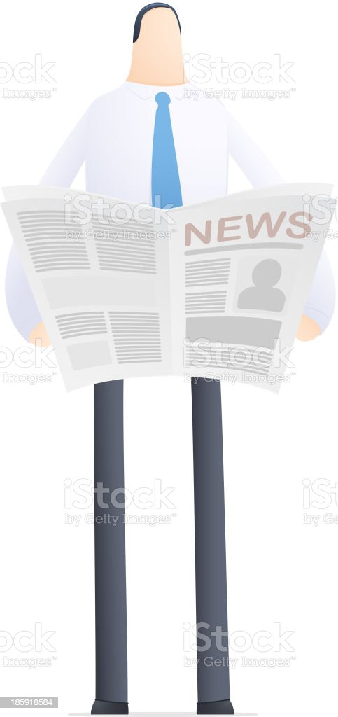 young businessman reads the news royalty-free young businessman reads the news stock vector art & more images of analyzing