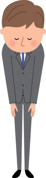 青年実業家の弓 - お礼点のイラスト素材/クリップアート素材/マンガ素材/アイコン素材
