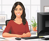 istock Young Businesswoman Sitting At Her Desk In The Office 1199842131