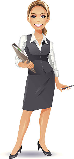 Royalty Free Cartoon Of Sexy Secretaries Clip Art, Vector Images  Illustrations - Istock-3299