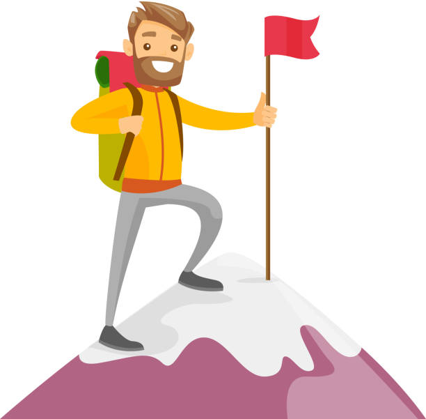 Best Mountain Climbing Illustrations, Royalty-Free Vector ...