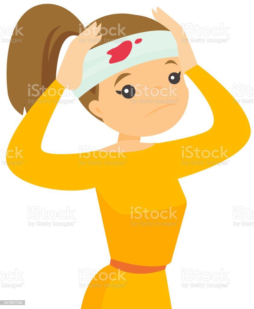 kvinna ger man huvudet förnyade flickor