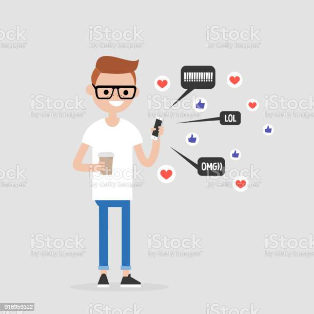 Young character checking the pop up notifications on the mobile phone vector id916959322?b=1&k=6&m=916959322&s=612x612&h=x9chsbndeeg8gbnkv6hucg cebmvp1g9112ivoxkiau=