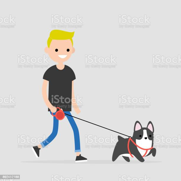 Young character walking a dog pet owner flat editable vector clip vector id892412188?b=1&k=6&m=892412188&s=612x612&h=afzz1u9by xptvg1yeg6duhkbgzvampplnbyal ywoy=