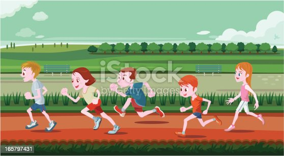 istock Young children running in out door 165797431