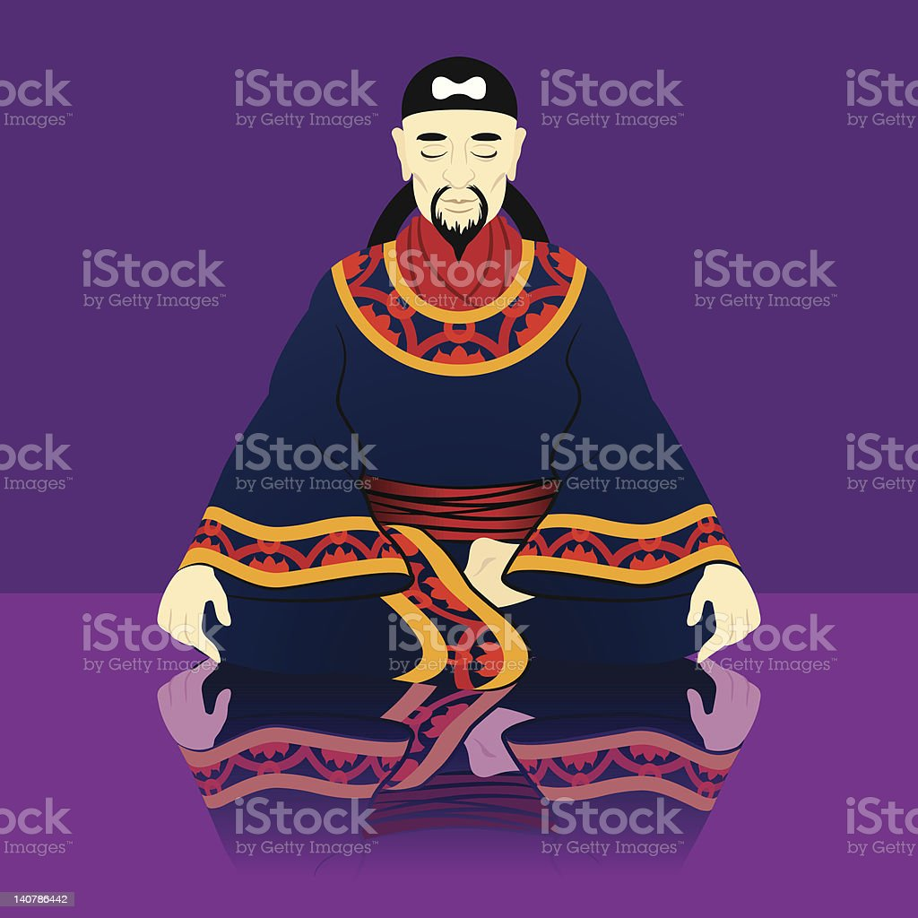 Young Confucius royalty-free stock vector art
