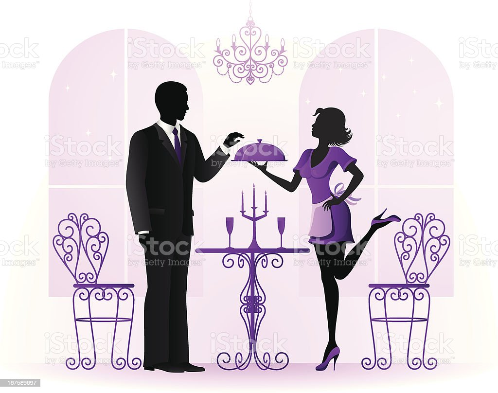 Young Couple Celebrating royalty-free stock vector art