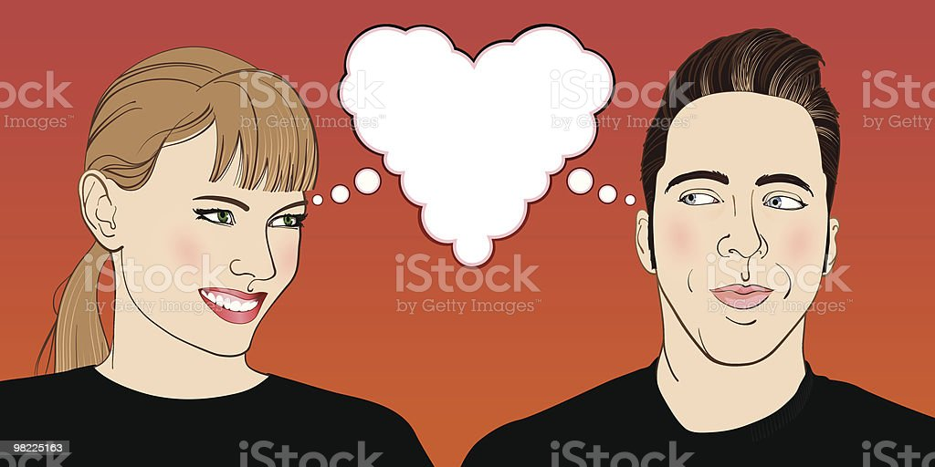 Young Couple in Love royalty-free young couple in love stock vector art & more images of 1950-1959