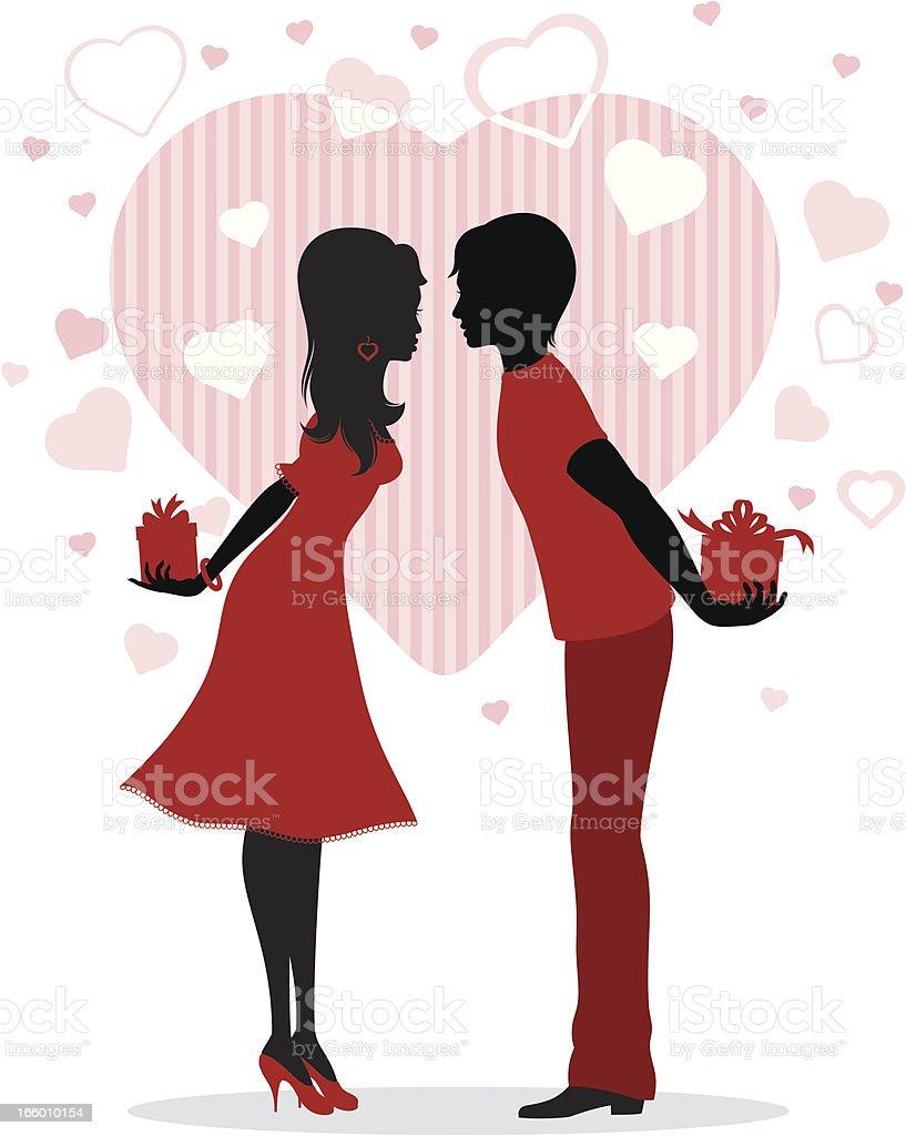 若いカップルのキス のイラスト素材 166010154 | istock