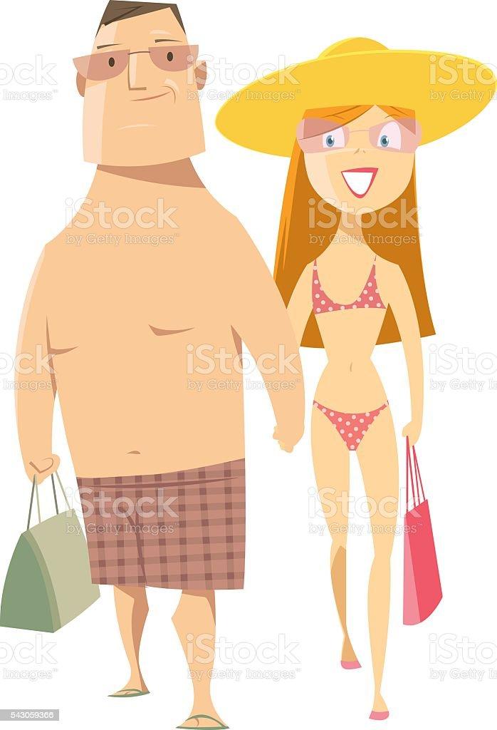 Junges Paar – Vektorgrafik