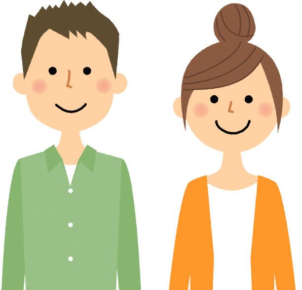 illustrazioni stock, clip art, cartoni animati e icone di tendenza di young couple - solo giapponesi