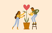 istock A Young Couple Work Together To Improve Their Love Relationship 1292522969