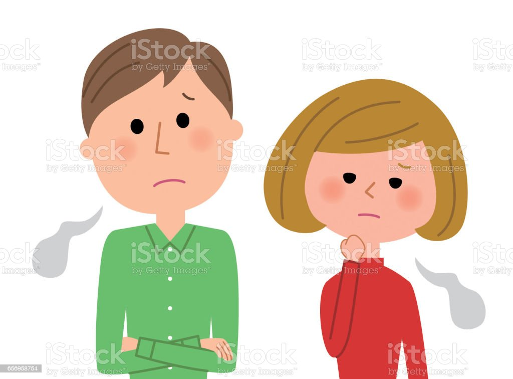Young couple,Sigh vector art illustration