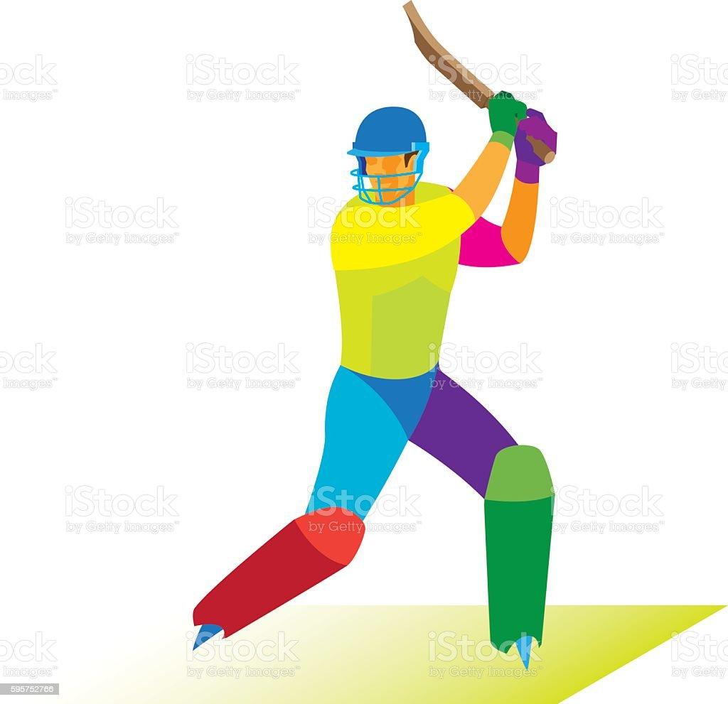 young cricketer  is batsman ベクターアートイラスト