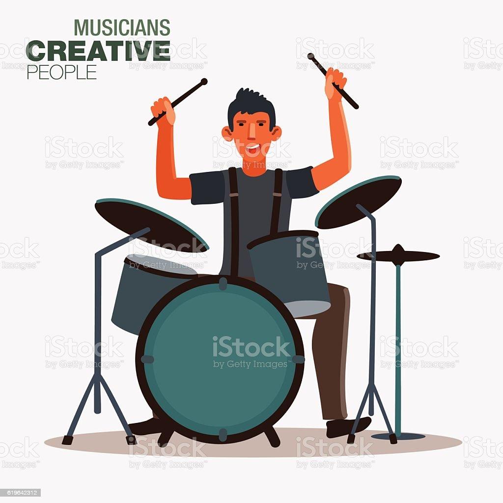 royalty free drummer clip art vector images illustrations istock rh istockphoto com snare drummer clipart jazz drummer clipart
