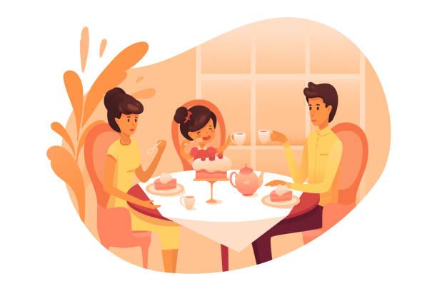 Una niña come la cena a las 6:30 - Descargar Vectores Gratis, Illustrator  Graficos, Plantillas Diseño
