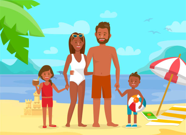 Family trip and holiday stock illustrations