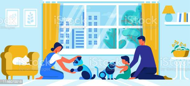 Young family with little baby play with robot pets vector id1146070015?b=1&k=6&m=1146070015&s=612x612&h=yz yfardiajntjvw6doivjuxj2ezei ionigwfnasgg=