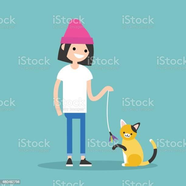 Young female character playing with a cat flat editable vector clip vector id680462756?b=1&k=6&m=680462756&s=612x612&h=jroplqxtqb x2cb8i0p6kqiw6xtdjcwifzwioavrmz4=