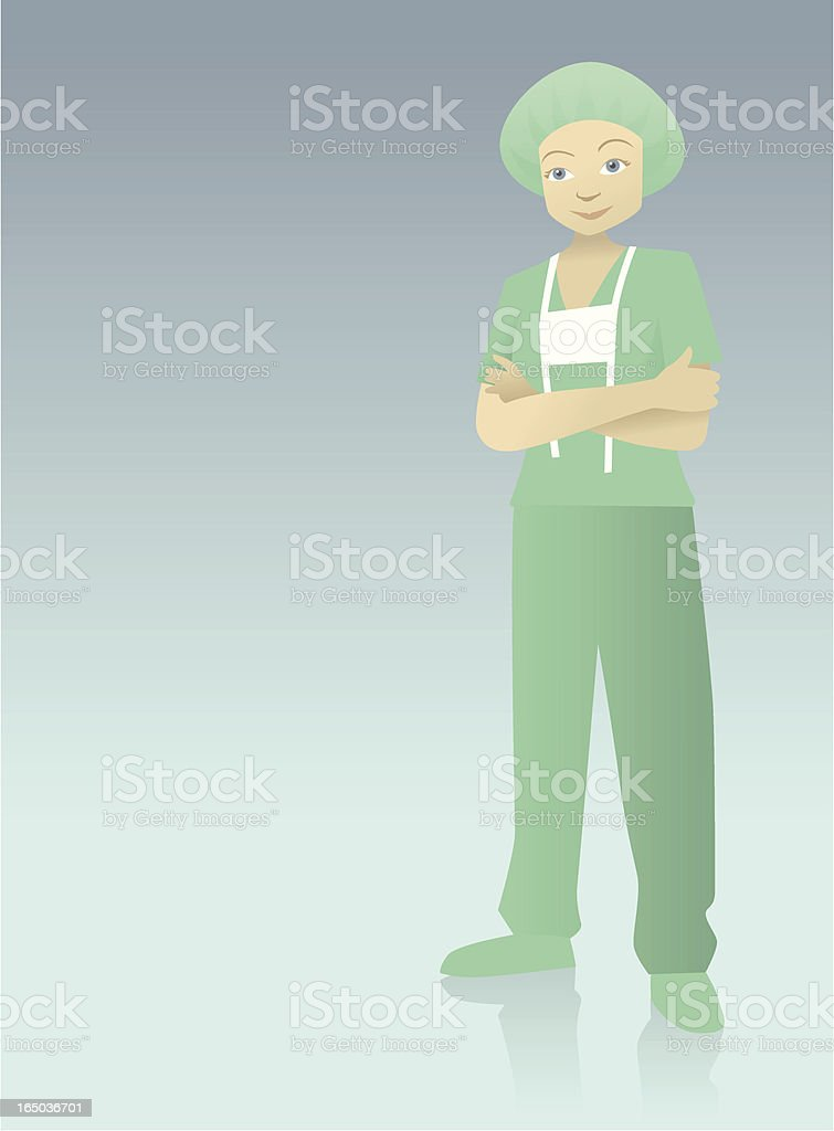 Young Female Surgeon royalty-free stock vector art