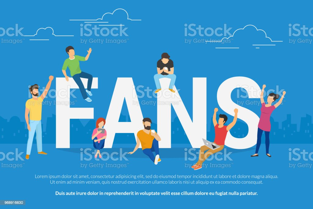Young Football Fans Watch A Game Online Gesturing Hand Stock Illustration Download Image Now Istock