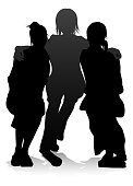 Young Friends Silhouette