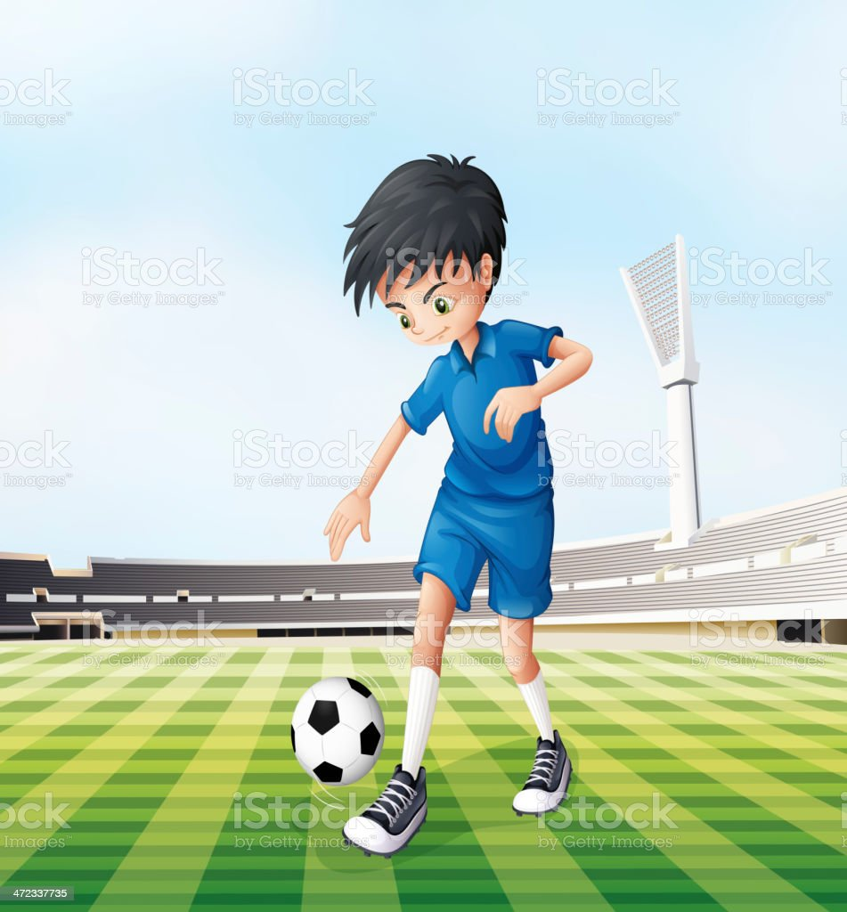 Young gentleman playing soccer royalty-free young gentleman playing soccer stock vector art & more images of activity