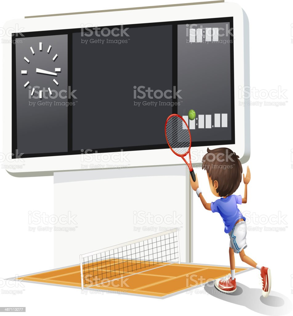 Young gentleman playing tennis royalty-free young gentleman playing tennis stock vector art & more images of activity