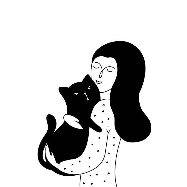 Best Hugging Cat Illustrations, Royalty-Free Vector Graphics & Clip