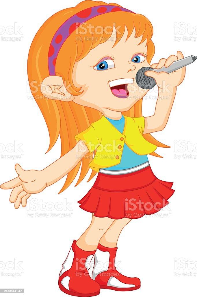 royalty free girl singing clip art vector images illustrations rh istockphoto com singing clip art border singing clipart free